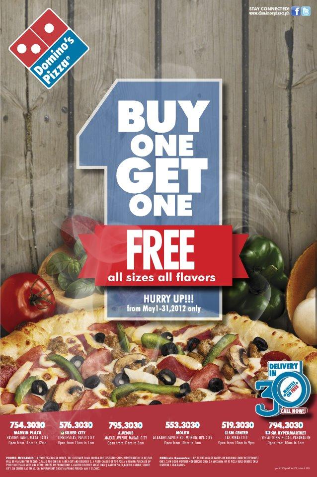 Manila Life Buy 1 Take 1 At Domino S Pizza