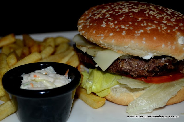 Angus Beef Burger at The Huddle Sports Bar And Grill in Citymax Hotel Burd Dubai