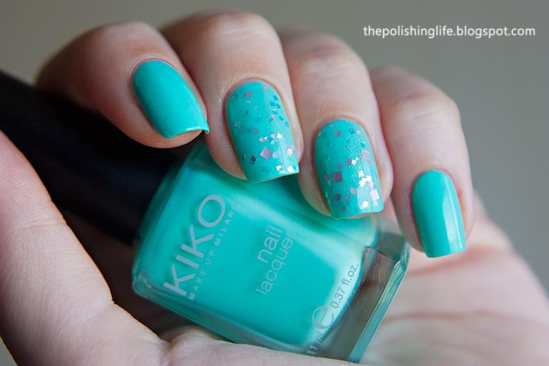 Kiko 389 Mint Milk + I Love Nail Polish Angel Burp