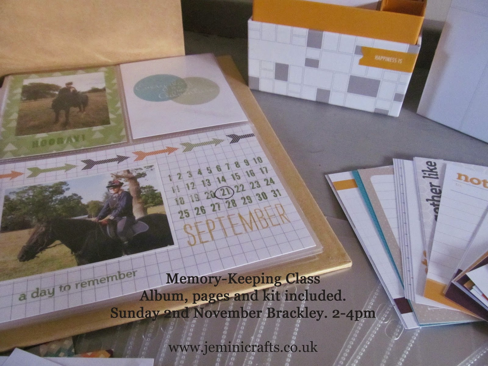 Project Life kit from Stampin' Up! www.jeminicrafts.co.uk