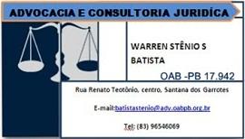 SANTANA DOS GARROTES: Advocacia e Consultoria Jurídica