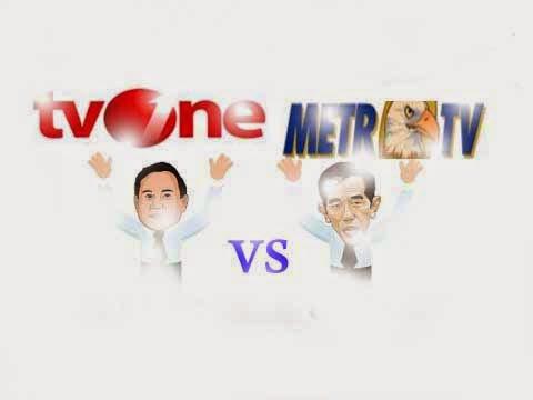 Perang media Metro TV vs TV One Menuju Pilpres 2014