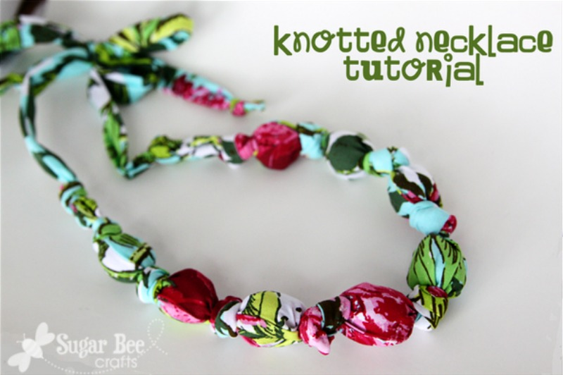 accessories diy fabric knotted bead necklaces