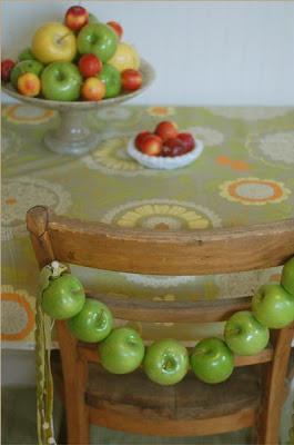 decoracion con manzanas