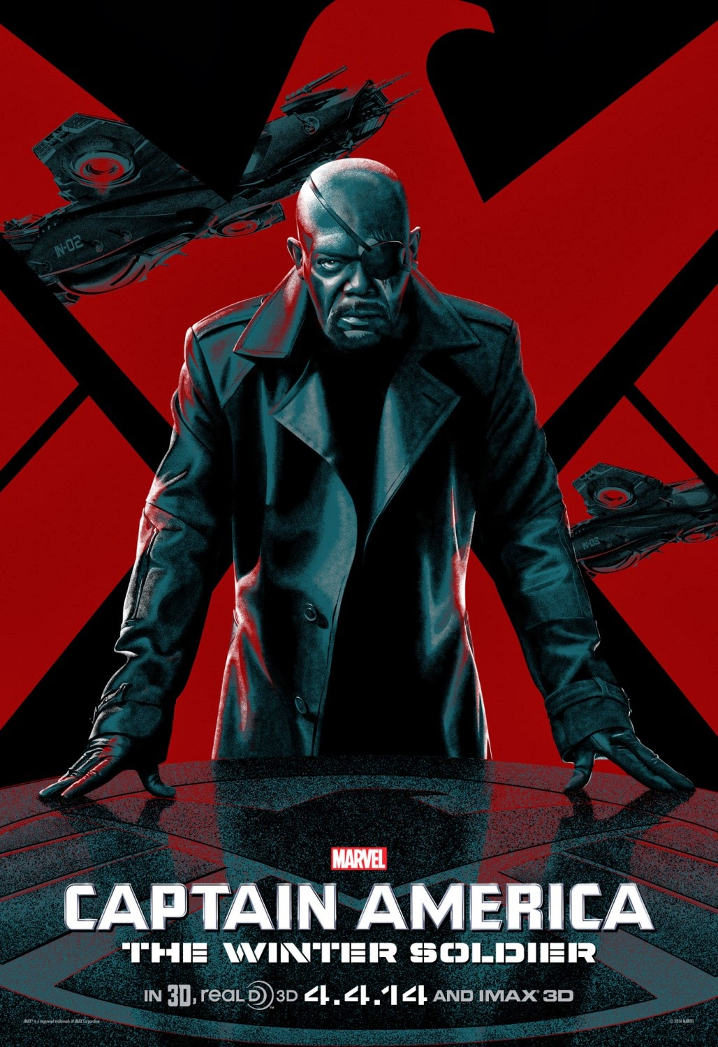 Captain America The Winter Soldier IMAX Character One Sheet Movie Poster Set - Samuel L. Jackson as Nick Fury
