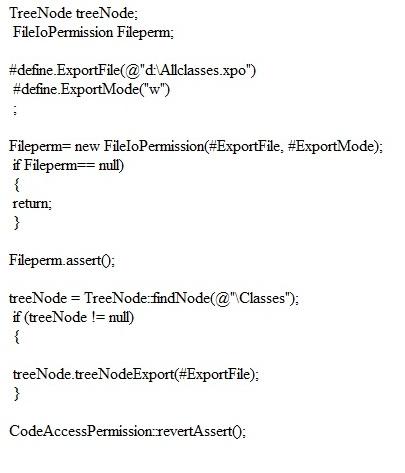 export classes