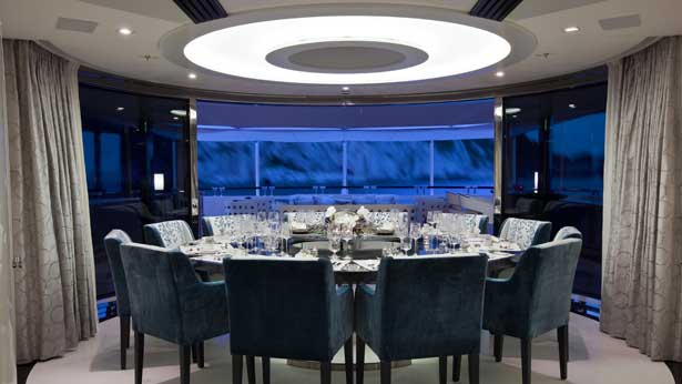 Luxury cruising yachts heesen quinta essentia the for 12 person dining table for sale