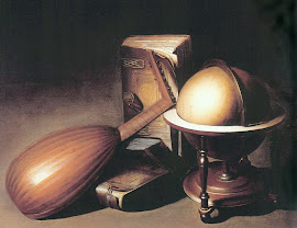 Still Life with Globe, Lute, and Books by Gerrit Dou