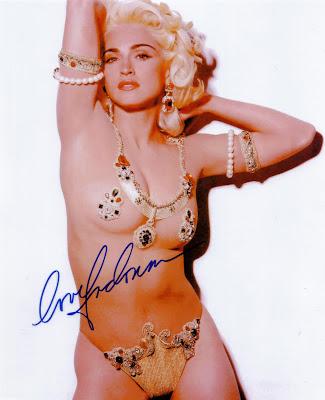 Madonna autograph photo