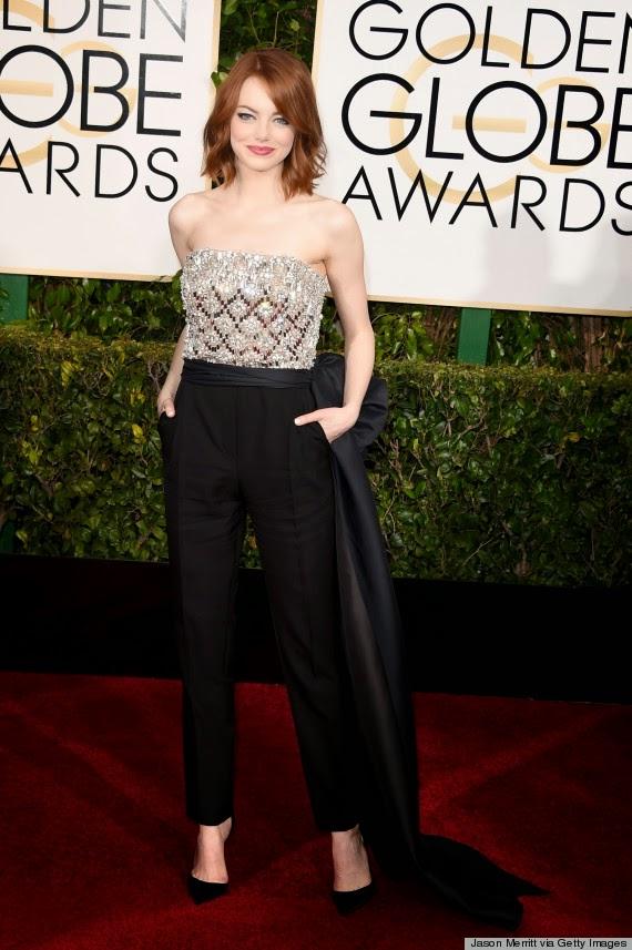Emma Stone best dressed at Golden Globe Awards 2015