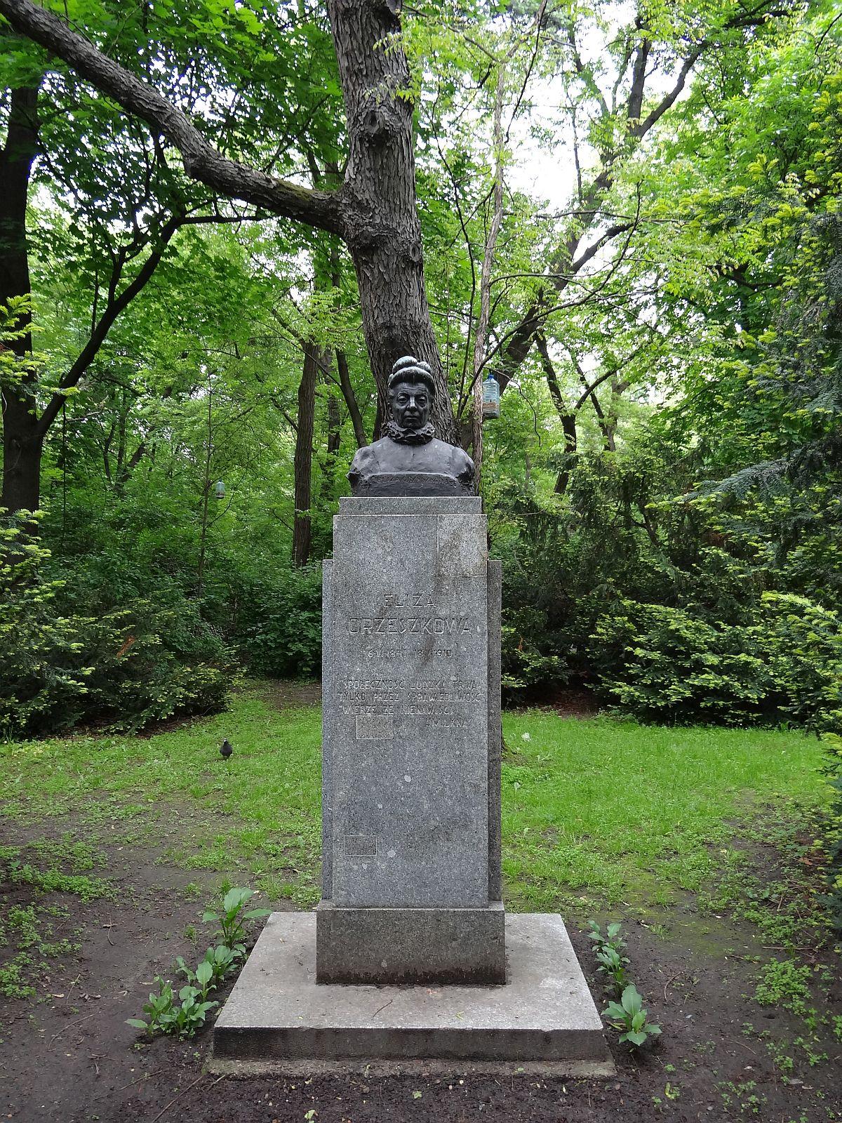 Pomnik Elizy Orzeszkowej w Warszawie w Parku Praskim