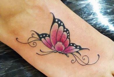 Sugestões de Tatuagens Femininas no Pé