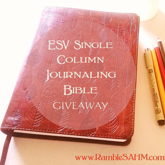 ESV Single Column Journaling Bible Giveaway