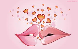 Love Kiss Bisou Coeur Love Wallpaper