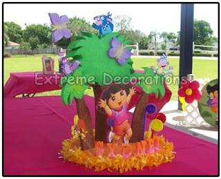 Children's Parties Decoration Dora the Explorer, centerpieces
