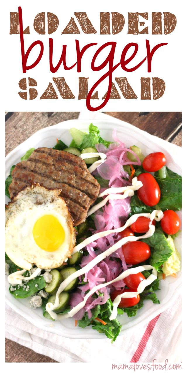 Loaded Hamburger Salad