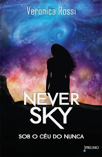 Capa metalizada do livro Sob o céu do nunca.