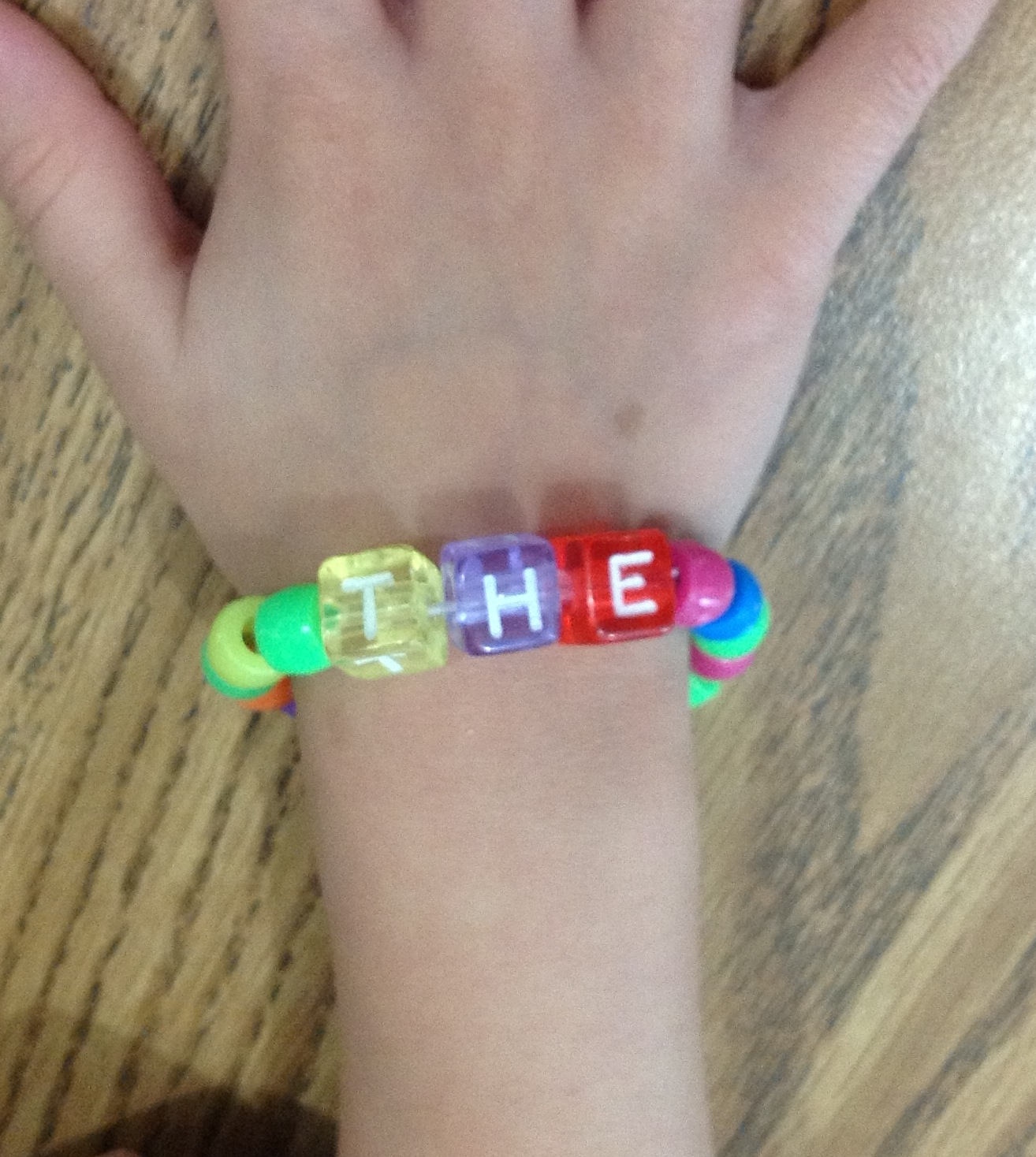 Today We Made Sight Word Bracelets For The