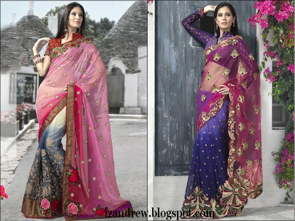 Hairstyle For Long Hair On Salwar Kameez : Bridal Sarees 2012 Silk Sarees/Saris Indian Designer Saree Blouse ...