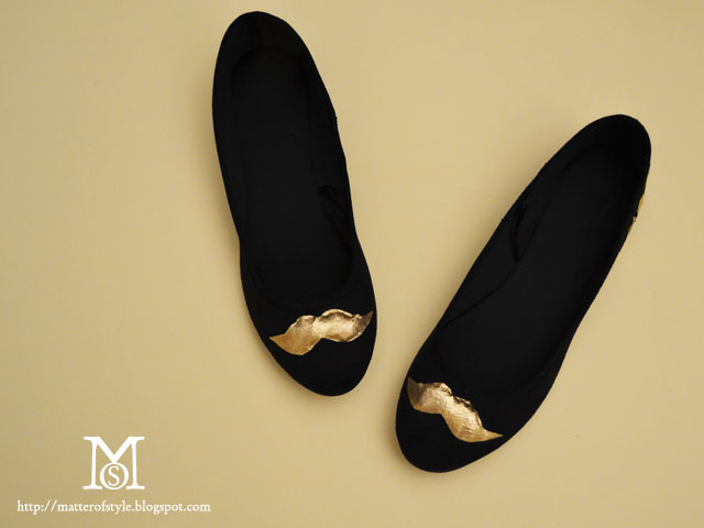 mustache flats, mustache shoes, fashion diy, diy, how to, tutorial