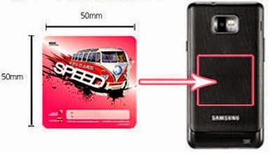 25cm² NFC adhesive sticker