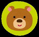 動物のマーク「クマ」