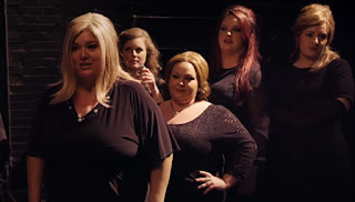 Adele as Jenny on the far right and last of the contestants.