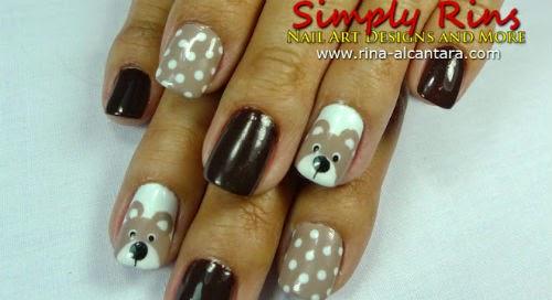 uñas decoradas con osos