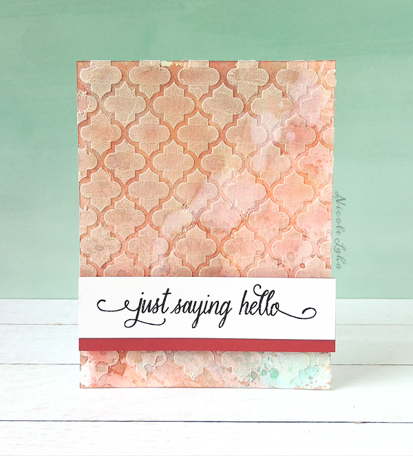 Judikins Background Stencil With Embossing Paste