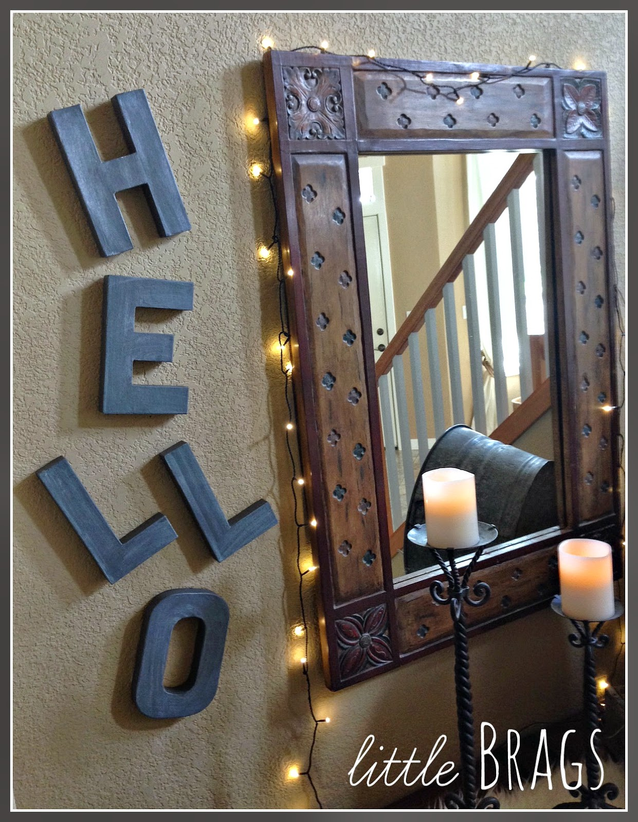 Faux Galvanized Letters Tutorial - An Eclectic Entry