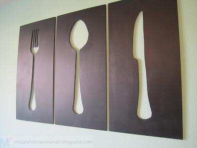Hiasan Ruang Makan Berbentuk Siluet
