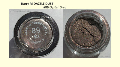Barry M Dazzle Dust 89 Oyster Grey swatches