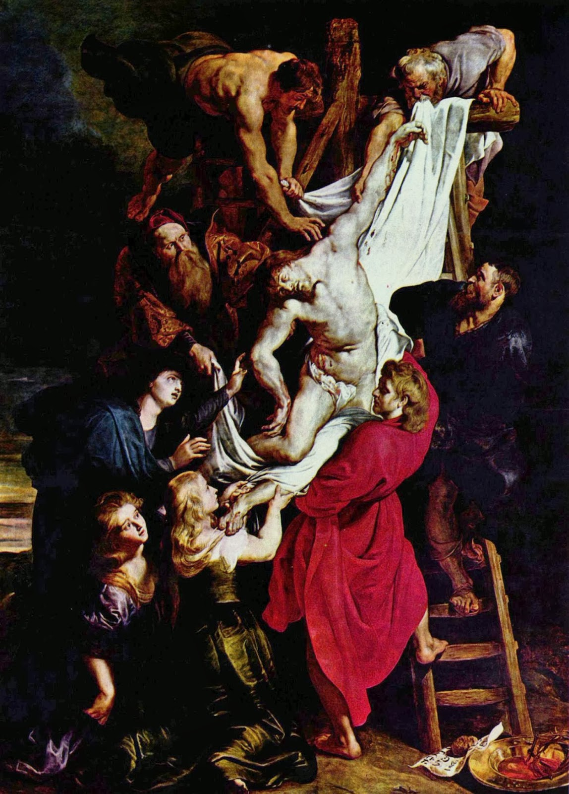 """Picture of """"The Descent from the Cross"""" by Peter Paul Rubens, 1612-1614"""