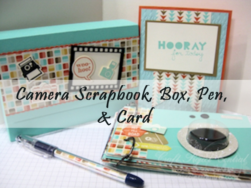Create With Christy Camera Scrapbook Box Pen Card