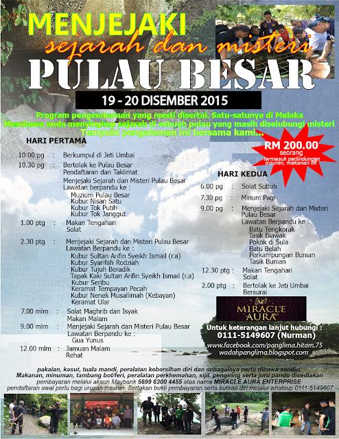 Menjejaki Sejarah Dan Misteri Pulau Besar Melaka