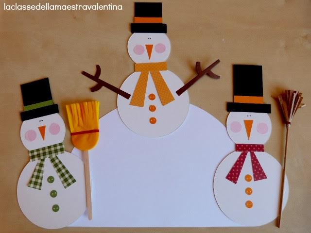 La classe della maestra valentina tanti pupazzi di neve for La classe della maestra