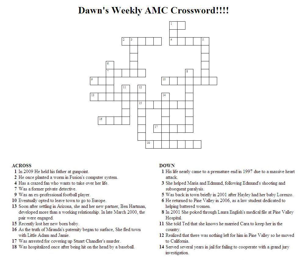 printable sunday crossword