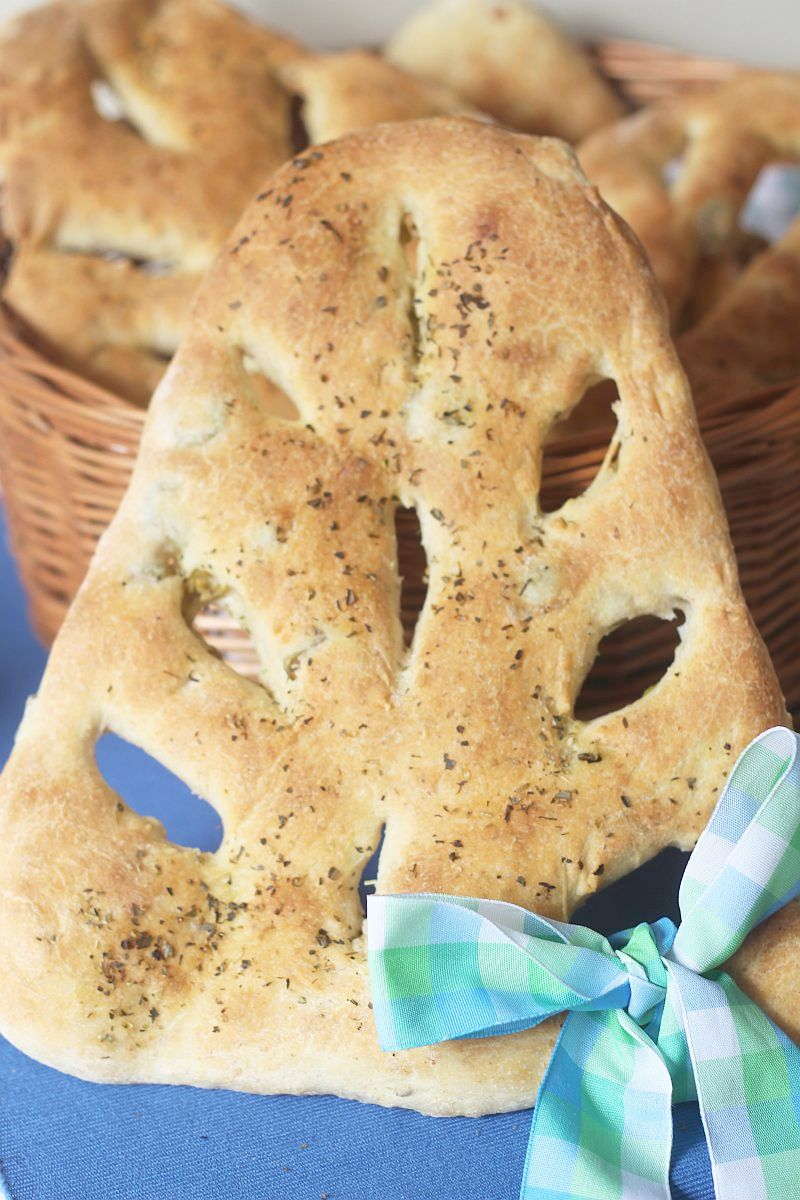 Fougasse z oliwkami