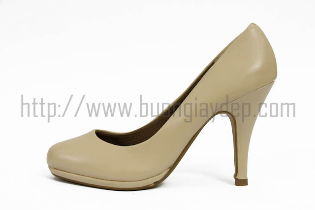 Bỏ sỉ giày cao gót đế kép màu nude