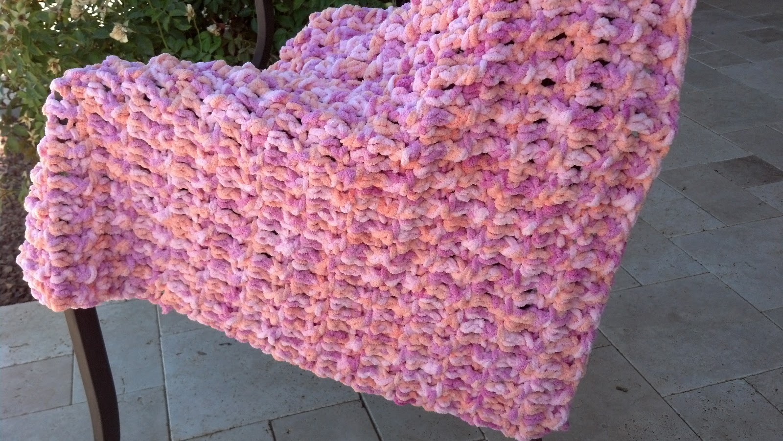 Crochet Patterns Using Bernat Blanket Yarn : ... the Gap: Stash Buster Challenge - Thick & Cuddly Baby Blanket