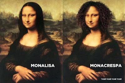 monalisa, monacrespa, mona parou, mona acredita no bate cabelo, fotos monalisa, Leonardo Davince, Leonardo da20, Mona, Bate cabelo, alisante natural, cabelos crespos, quadro monalisa, quadro davinci, quadro da vinci