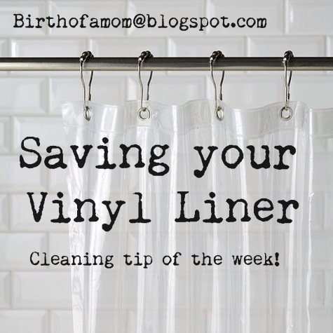 Save your vinyl shower curtain liner mom bloggers club for Shower curtain savers
