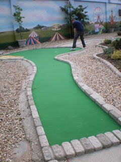 Crazy Golf at The Golden Palm Resort in Chapel St Leonards, near Skegness