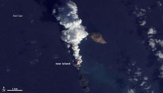 Pulau Baru Muncul Membelah Laut Merah