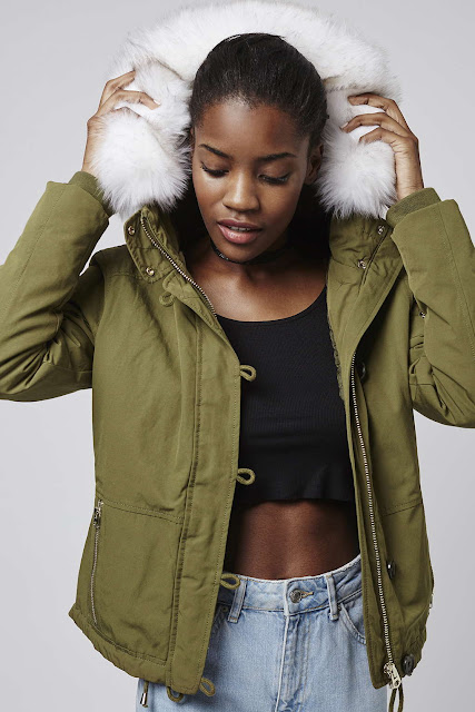 short khaki parka with fur hood, topshop white fur hood parka,
