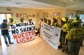 BRIF convocan dos concentraciones en Zaragoza en su tercer día de huelga