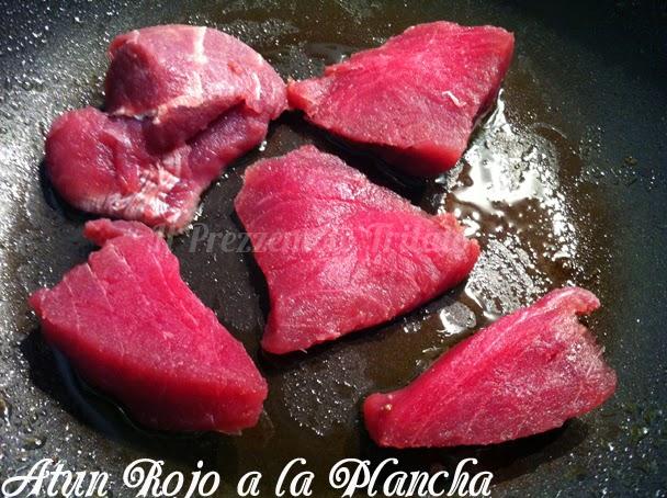 Solomillos de atún rojo a la plancha con majado