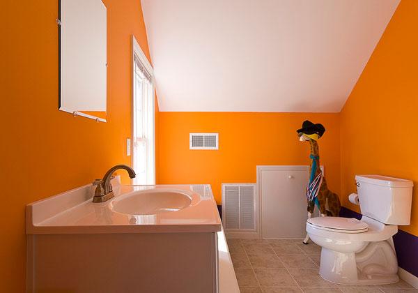 Deco chambre interieur 10 meilleurs sch mas de couleur for Salle de bain orange et gris