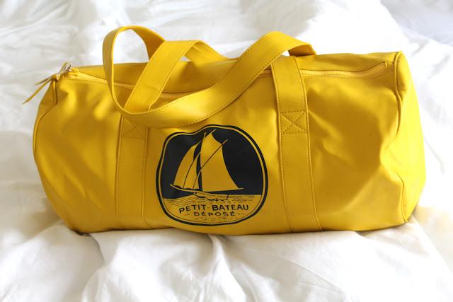 Yellow Petit Bateau duffle bag