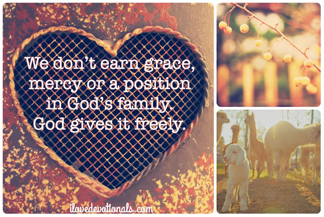 grace, mercy, child of god